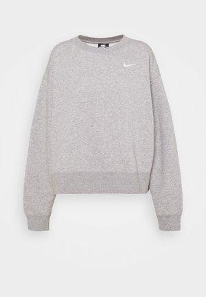 CREW TREND - Sweatshirt - grey heather/white