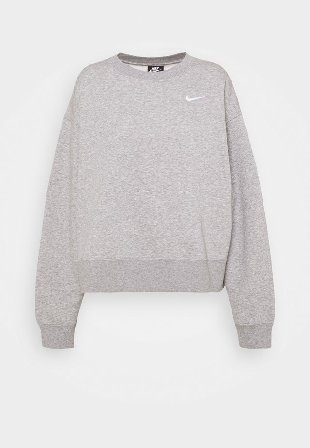 CREW TREND PLUS - Sweatshirt - grey heather/white