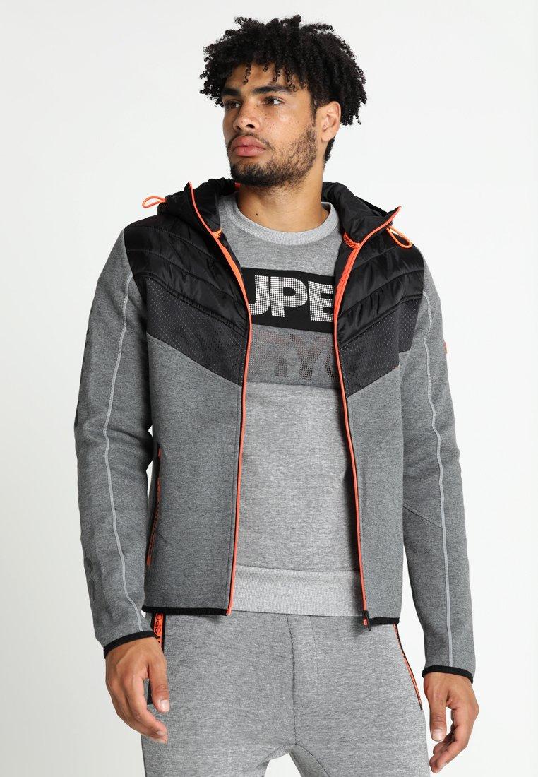 Superdry - GYM TECH CHEVRON HYBRID - Training jacket - urban grey heather