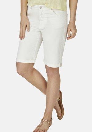 Denim shorts - camel