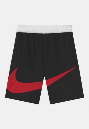 BASKETBALL - Träningsshorts - black/white/university red