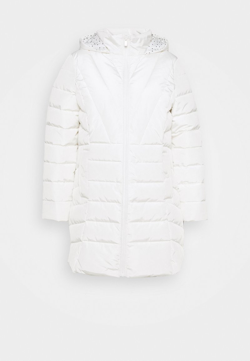 CAPSULE by Simply Be - WATER RESISTANT HOODED LONGLINE WITH SIDE ZIPS - Classic coat - cream