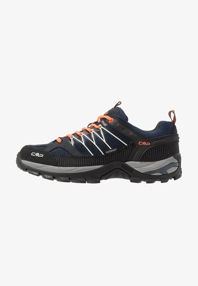 RIGEL LOW TREKKING SHOES WP - Obuwie hikingowe - antracite/flash orange