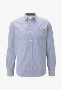 TOM TAILOR - MIT BRUSTTASCHE - Shirt - light blue fil a fil vichy - 3