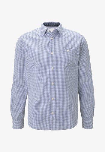 MIT BRUSTTASCHE - Shirt - light blue fil a fil vichy