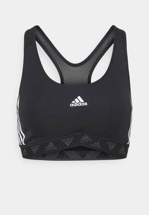 BRA - Reggiseno sportivo con sostegno medio - black/white