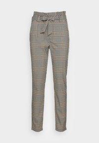 Vero Moda - VMEVA LOOSE PAPERBAG PANT  - Trousers - tobacco brown checks black/ white/ green - 3