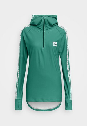 ICECOLD ZIP HOOD - T-shirt à manches longues - green