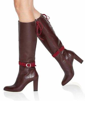 Laarzen met hoge hak - bordeaux/red
