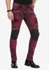 Cipo & Baxx - Jeans Skinny Fit - burgundy - 0
