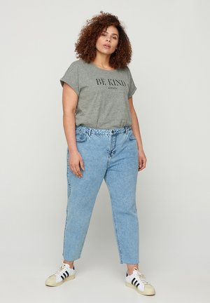 CROPPED MOM FIT MILLE - Slim fit jeans - blue denim