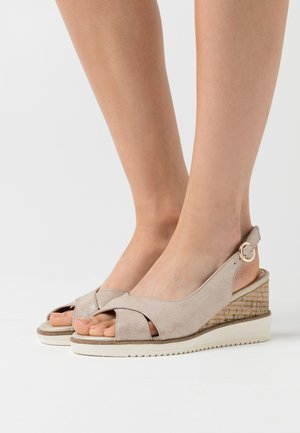 Wedge sandals - champagner pearl