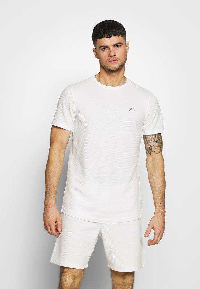 JPRFRANCO  CREW NECK - T-shirt basic - blanc de blanc