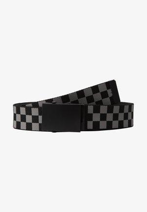 ADJUSTABLE CHECKER BELT - Belt - black/grey