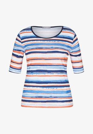 MIT GESTREIFTEM MUSTER UND RUNDHALSAUSSCHNITT - Print T-shirt - dunkelblau