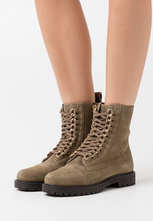 ALLY  - Lace-up ankle boots - olive