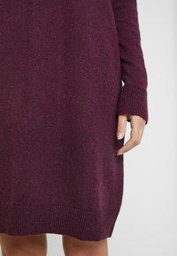 GAP - V-SHIFT DRESS - Strickkleid - plum heather - 6