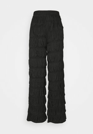 PCPOLLY  SMOCK PANTS TALL - Pantalon classique - black
