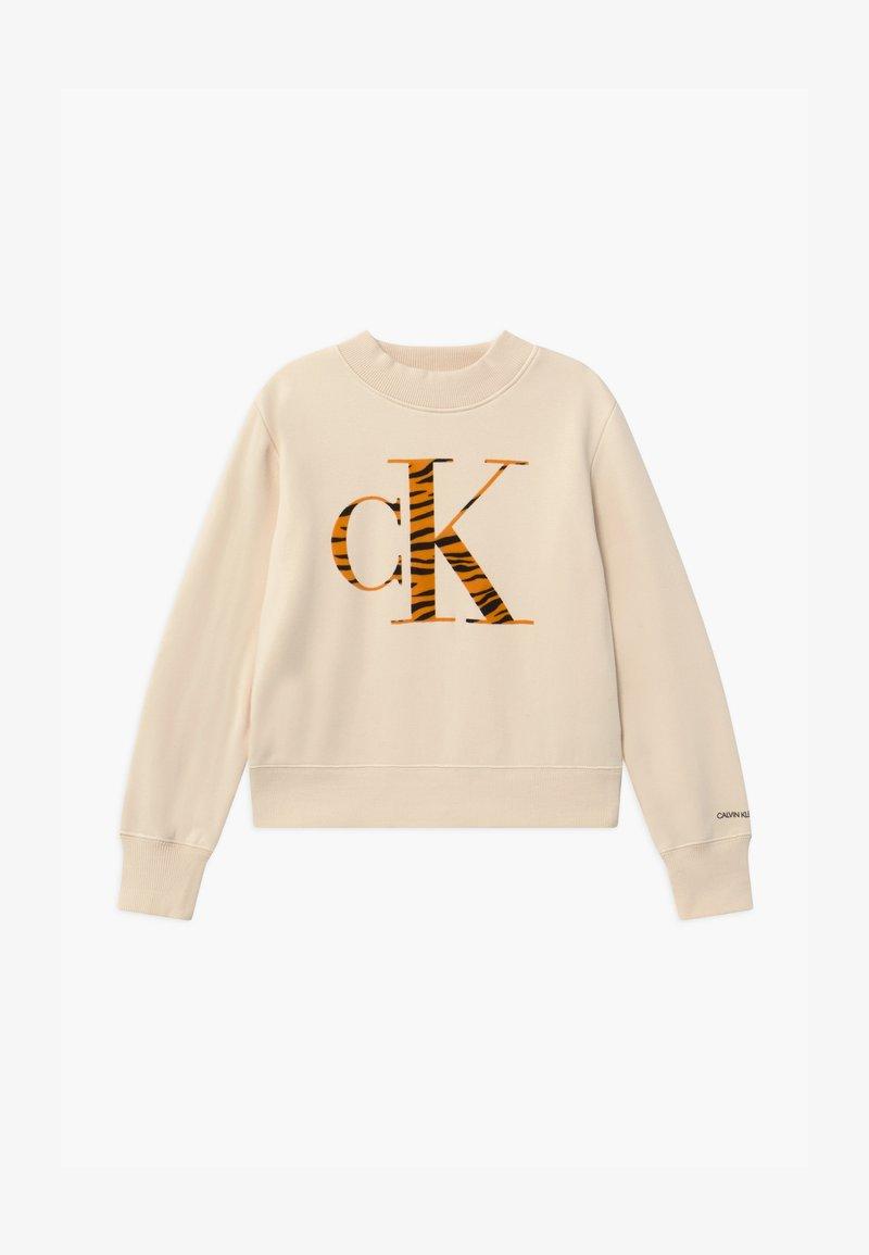 Calvin Klein Jeans - URBAN ANIMAL FLOCK - Mikina - off-white