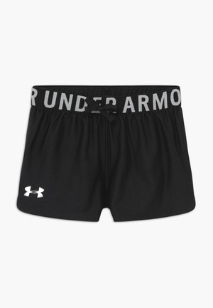 PLAY UP SOLID SHORTS - Krótkie spodenki sportowe - black/metallic silver