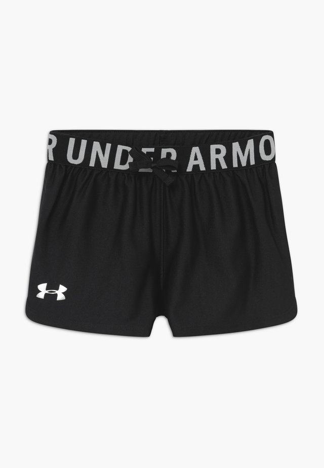 PLAY UP SOLID SHORTS - Sports shorts - black/metallic silver