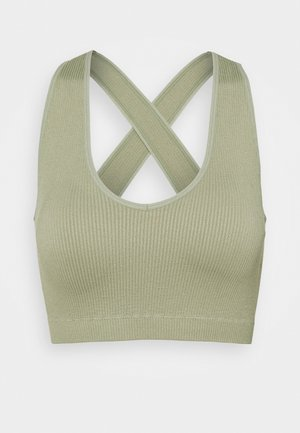 NECK CROSS BACK - Topper - dessert sage