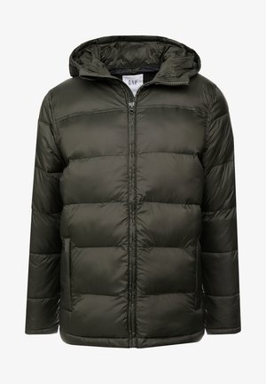HOODED HEAVYWEIGHT PUFFER - Winter jacket - black grass
