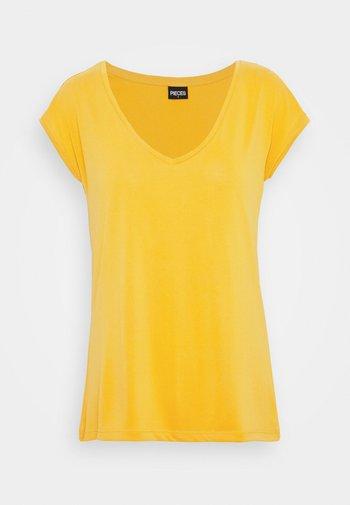 PCKAMALA TEE - Basic T-shirt - nugget gold