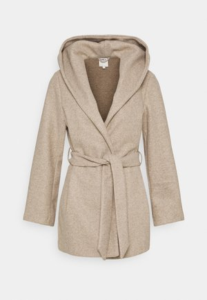 ONLTRILLION BELT HOODIE COATIGAN - Cappotto classico - sand