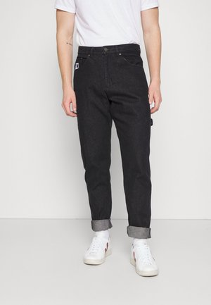RETRO RINSED PANTS UNISEX - Relaxed fit jeans - black