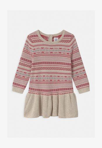 FAIRISLE - Gebreide jurk - oatmeal heather