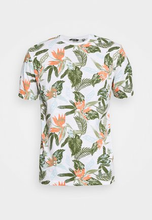 ONSKLOP LIFE TEE - Print T-shirt - white