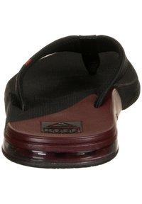 Reef - T-bar sandals - black /mrust fanning low - 3