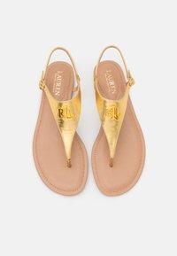 Lauren Ralph Lauren - METALLIC ELLINGTON - T-bar sandals - modern gold - 4