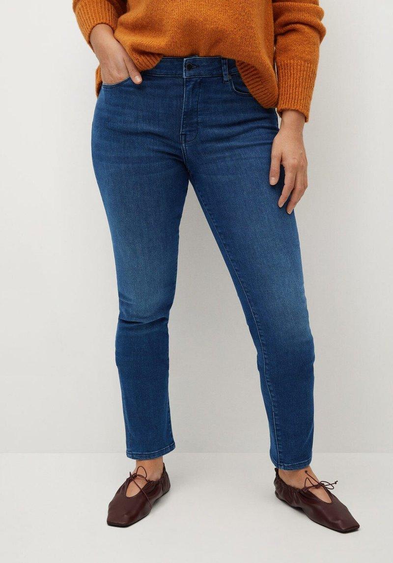 Violeta by Mango - VALENTIN - Slim fit jeans - mittelblau
