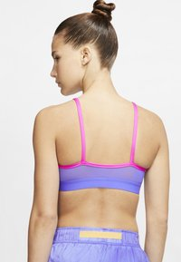 Nike Performance - NIKE INDY ICON CLASH WOMEN'S LIGHT-SUPPORT TOGGLE SPORTS BRA - Sports bra - fire pink/topaz gold/sapphire/laser orange - 2