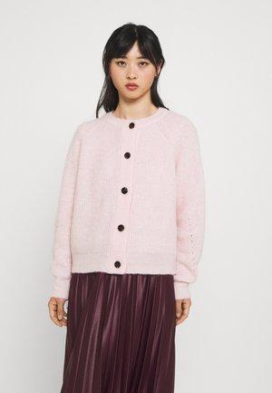 SLFLULU SHORT CARDIGAN - Vest - chalk pink