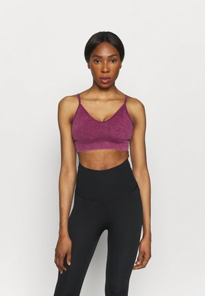 LIFESTYLE SEAMLESS V NECK  - Light support sports bra - boysenberry wash