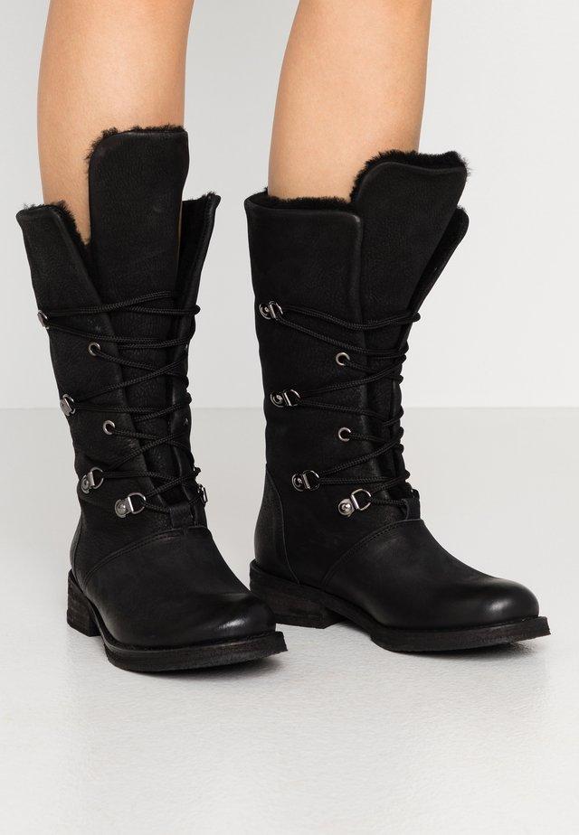 COOPER - Lace-up boots - morat black