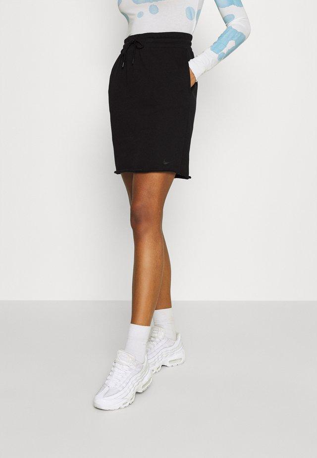 CLASH SKIRT - Pencil skirt - black/smoke grey