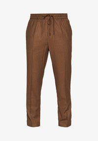 New Look - PIN STRIPE PULL ON - Broek - stone - 3
