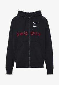 Nike Sportswear - M NSW HOODIE FZ FT - Bluza rozpinana - black/university red - 4
