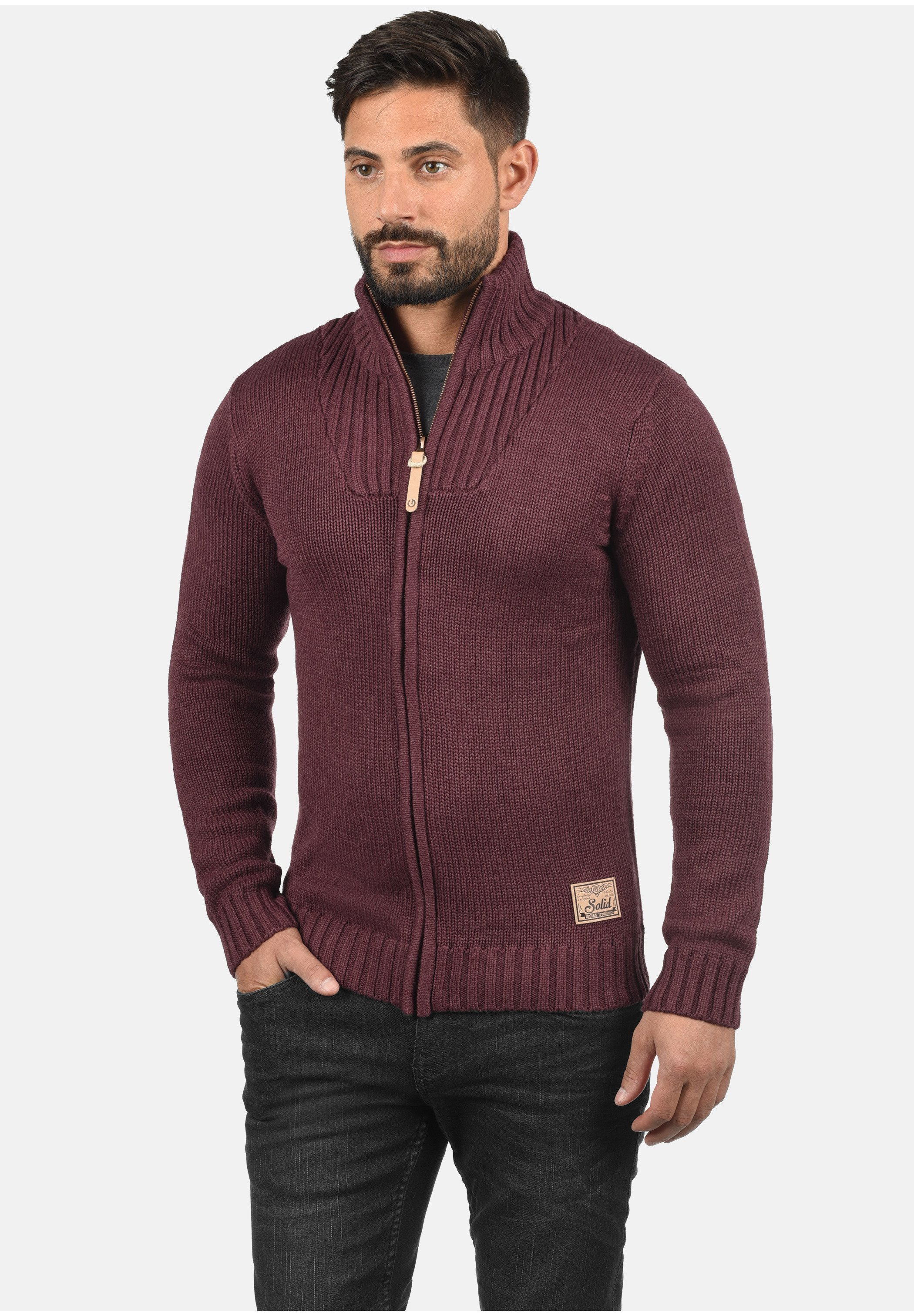Homme POUL - Gilet - wine red