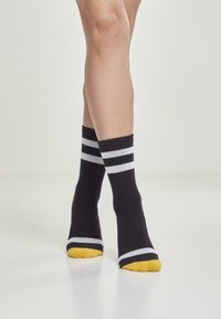 Urban Classics - 2 PACK - Socks - black/white/chromeyellow - 3