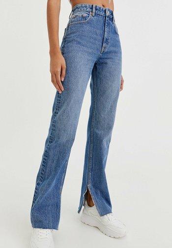 MIT SCHLITZ - Jeans a sigaretta - dark-blue denim