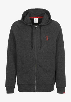 Zip-up hoodie - charcoal grey heather