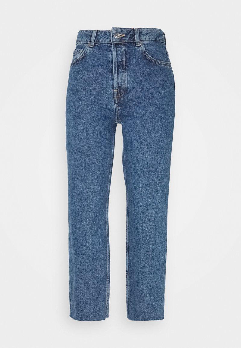 Selected Femme Tall - SLFKATE STRAIGHT CRUZ - Straight leg jeans - medium blue denim