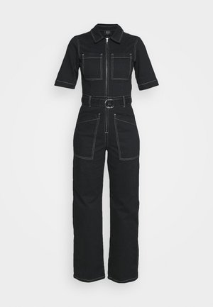 CONTRAST STITCH BOILERSUIT - Overall / Jumpsuit /Buksedragter - black