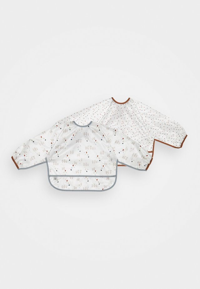LONG SLEEVE BIB TINY FARMER SHEEP 2 PACK - Hagesmæk - white