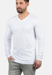 Solid - BEDA - Long sleeved top - white - 0